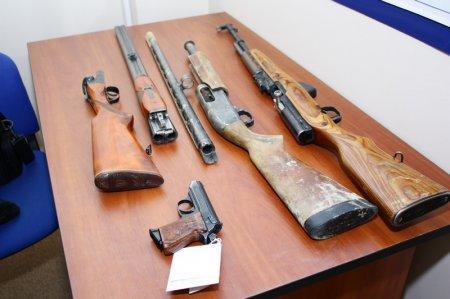 В Актау изъято 93 единицы огнестрельного оружия