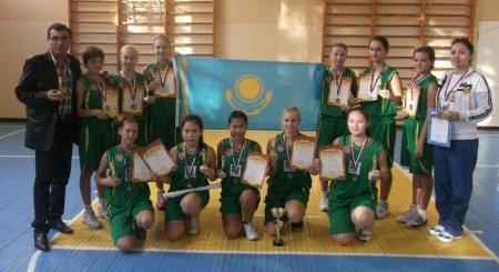 Юные баскетболистки из Актау заняли первое место на международном турнире в Оренбурге