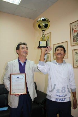 Ветеранская футбольная команда «Барс Ойл» выиграла Кубок в Астраханской области
