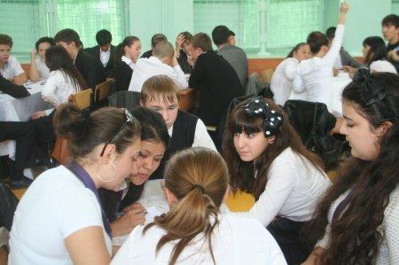 В Актау прошел турнир по игре в «Что? Где? Когда?» среди школьников