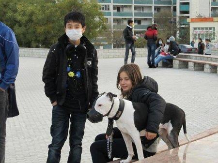 """В Актау прошел флешмоб под лозунгом """"Носить маску от гриппа не стыдно!"""""""