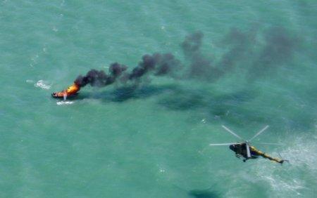 Казахстанские пограничники взорвали судно иностранных браконьеров