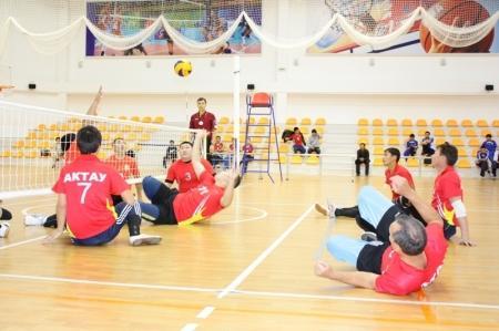 Команда Актау стала победителем чемпионата Казахстана по волейболу сидя среди спортсменов с поражением опорно-двигательного аппарата