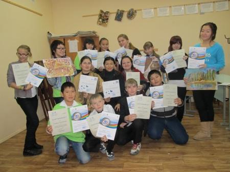 Воспитанники школы искусств  Актау на мастер-классе в Алматы освоили новую технику живописи