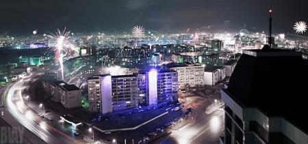 Актау в новогоднюю ночь (ФОТО)