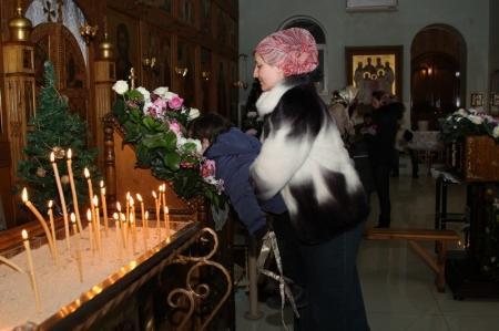 Православные христиане Актау встречают Рождество Христово
