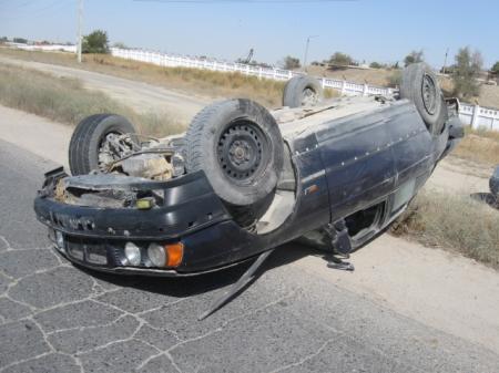 За последние три дня на дорогах Мангистау зарегистрировано пять дорожных аварий