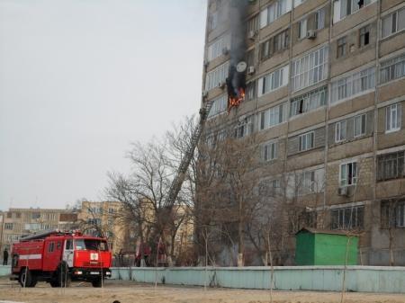 Пожар в 14 микрорайоне города Актау