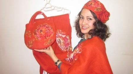 Произведения мастерицы по войлоку из Актау высоко оценили в Алматы