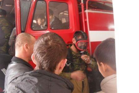 День открытых дверей прошел в пожарной части Форт–Шевченко