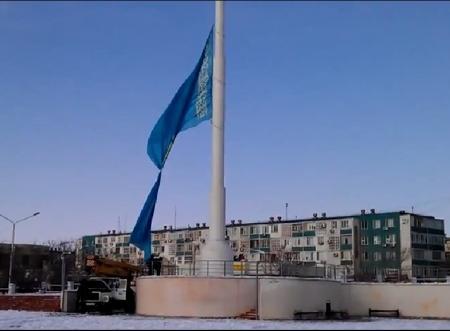 12 марта 2012 года. Актау.Подъем флага. ВИДЕО