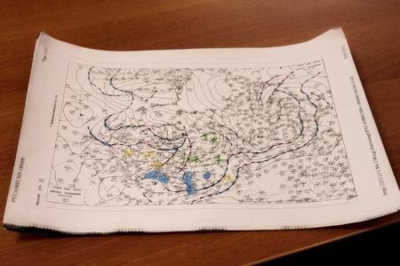 Приземная карта погоды в обработанном виде