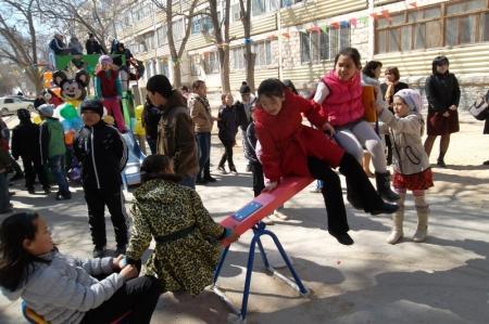 В Актау появились три новые детские площадки