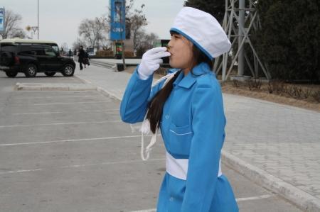 В Актау дети учили взрослых переходить дорогу