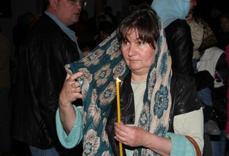 Православные христиане Актау встретили праздник Пасхи