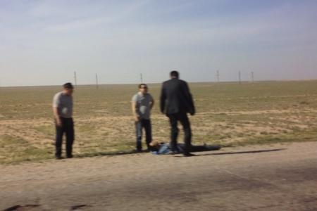 Дорожная авария с возгоранием произошла на автотрассе Жанаозен-Актау