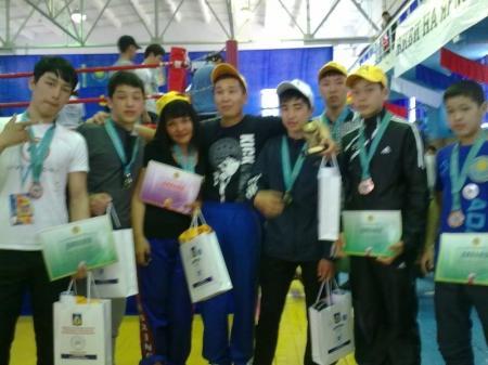 На чемпионате Казахстана по кикбоскингу мангистауские спортсмены завоевали восемь медалей