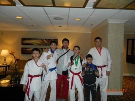 Актауские каратисты выступили в международном турнире в Лас-Вегасе