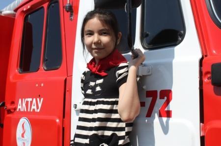 В Актау прошел слет юных пожарных