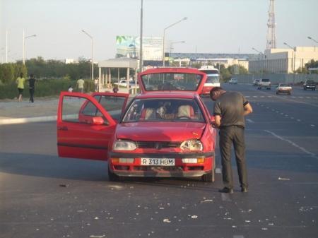 В Актау начинающие водители стали чаще попадать в ДТП
