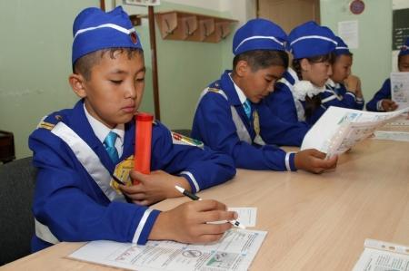 В Актау проходит слет юных инспекторов дорожного движения