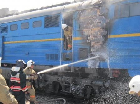 Сгорел тепловоз состава «Атырау - Мангышлак»
