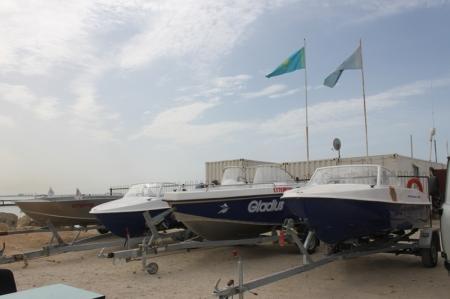 Спасатели Актау получили пять новых катеров и три автомобиля