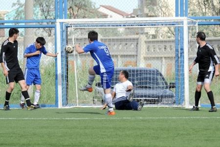Чемпионат города Актау по футболу (6х6) в разгаре