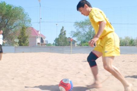 В Капчагае стартовал Чемпионат Казахстана по пляжному футболу