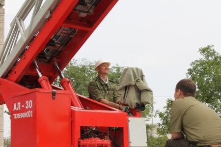 В Актауской поликлинике прошли пожарно-тактические учения