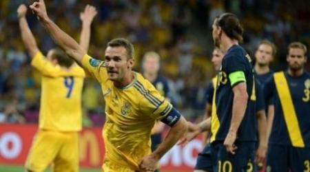 Дубль Шевченко принес сборной Украине победу над Швецией на Евро-2012