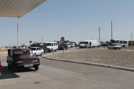 На газовых заправках Актау очереди
