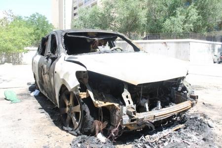 В Актау снова сгорел автомобиль
