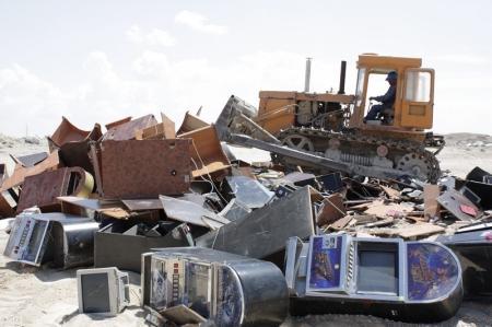 В Актау были изъяты и уничтожены игровые автоматы