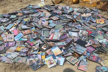В Мангистауской области изъято более шести тысяч пиратских дисков