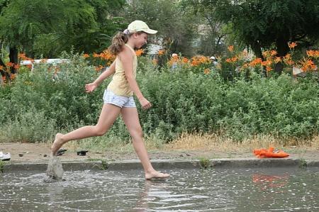 Дождь в Актау. Фотопост