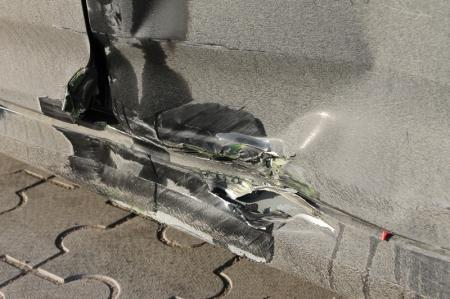 В Актау произошла авария- столкнулись мотоцикл с автомобилем