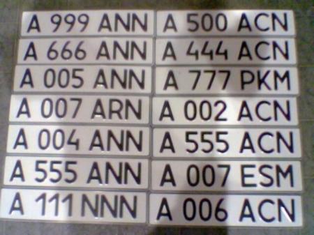 «Престижный» номер для авто можно будет выбрать через Интернет