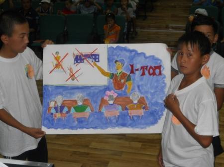 В детском лагере «А?б?бек» провели конкурс «Безопасное будущие детей»