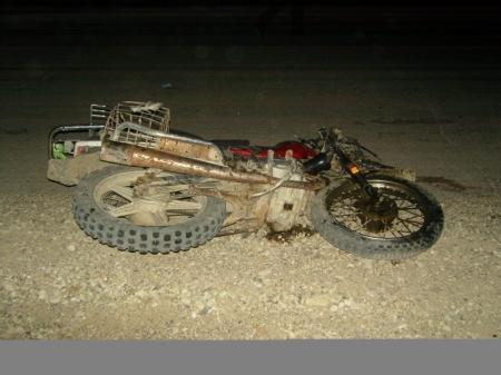 Пьяный мотоциклист с ребенком попали в ДТП на автотрассе в Мангистау