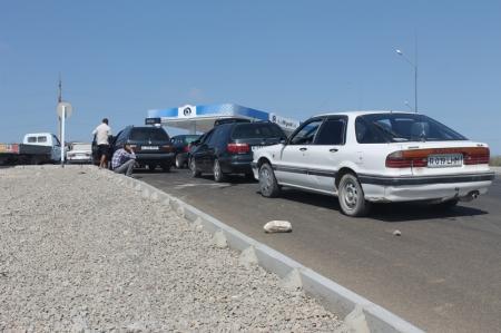 В Актау газа на частных заправках нет