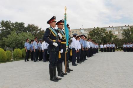 В честь празднования Дня Конституции  в ДВД Мангистауской области отметили лучших полицейских