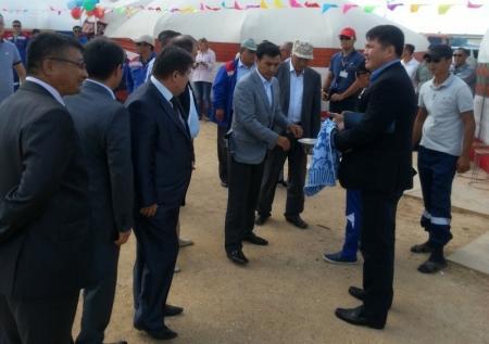 Работники месторождения «Каламкас» отметили день нефтяника