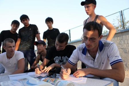 Турникмены Актау собрались вместе
