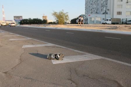 Сегодня утром в Актау произошла авария