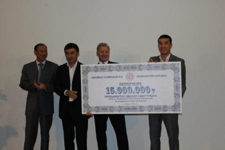 Пятнадцать миллионов тенге получил серебряный призер Лондонской Олимпиады Адильбек Ниязымбетов