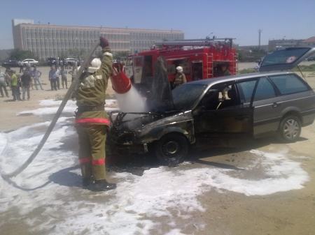В Актау за восемь месяцев сгорели 34 автомобиля