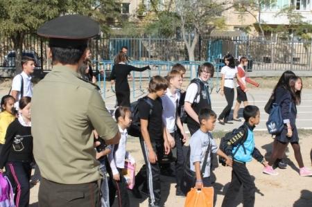 В средней школе №12 Актау проведены очередные учебно-тактические занятия