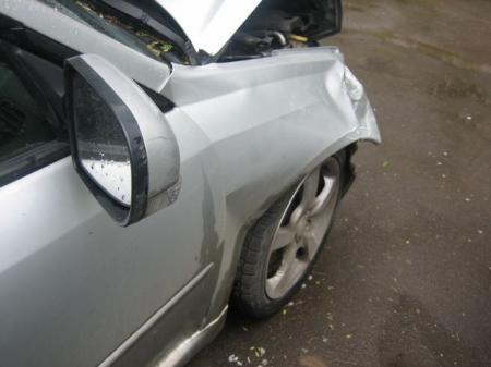 На автодороге Актау-Жетыбай опрокинулся автомобиль «Subaru Legacy»