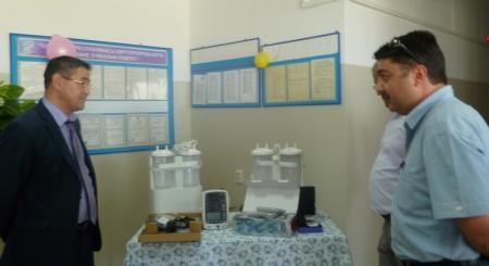 Компания «ЕРСАЙ» передала в больницу поселка Курык новое оборудование
